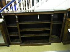 905 An Edwardian mahogany breakfront open bookcase 6ft