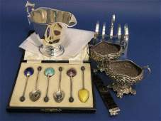 1334: A pair of Victorian silver salts,