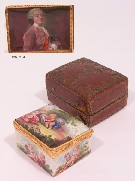 1427: An 18th century Danish gold and enamel box by Jos