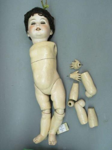 3: A Dressel bisque doll, 24in. - unstrung