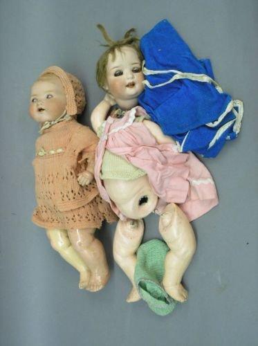 18: An Heubach, Koppelsdorf bisque doll and an AM 351 d