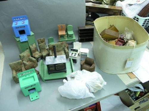 23: Dolls house contents - an assortment