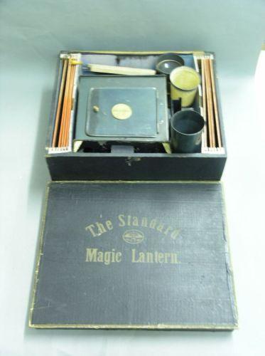 A cased 'Standard' magic lantern,