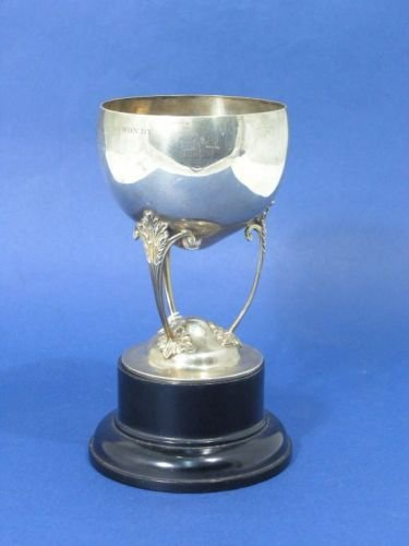 1448: A George V silver trophy cup, 8.25ins