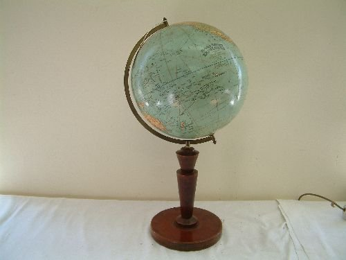 208: Globe on stand 1930's