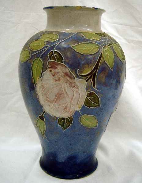 531: A Royal Doulton stoneware vase, 11.5in.
