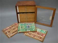 1098A A Victorian pine microscopy collectors cabinet