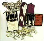914: A collection of plated and silver servers
