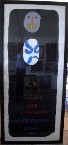 1544: David Hockney poster Igor Stravinsky Metropolitan