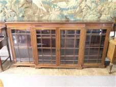 851: Edwardian breakfront bookcase, 8ft 1in