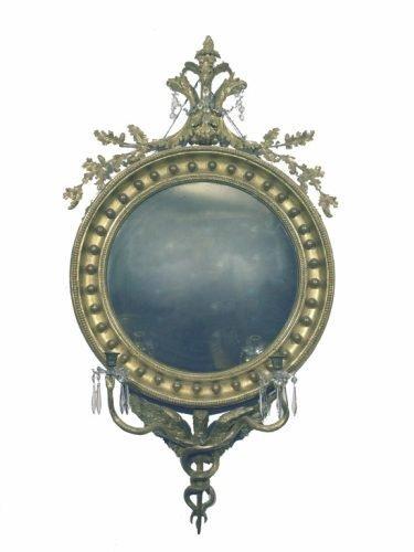 637: A Regency convex mirror
