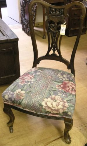 562A: A pair of Edwardian mahogany nursing chairs,