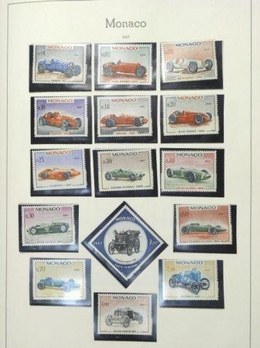 148: A Briefmarker album of Monaco stamps