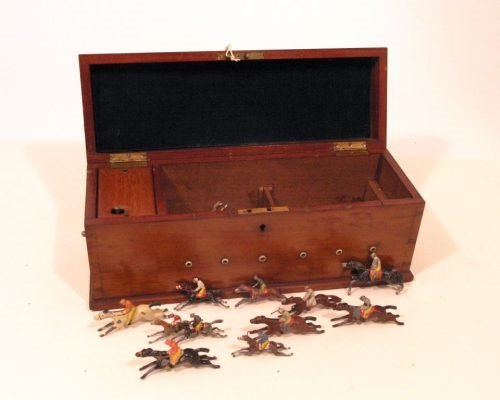 23: J. Jaques & Son 'Ascot' racing game, case 13in.
