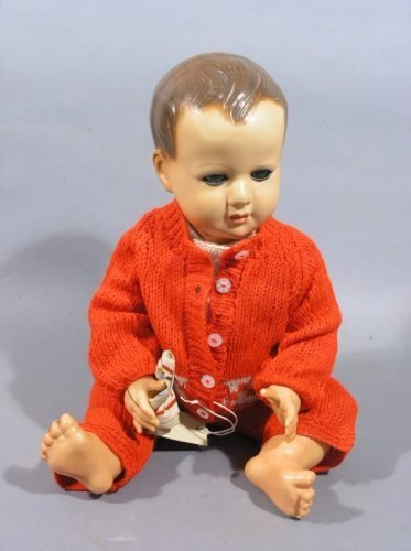 8: A large Petit Colin celluloid doll, 22.5in.
