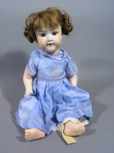 5: An Armand Marseille bisque doll, 21.5in.
