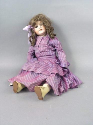 3: An M. Bergmann bisque doll, 26in.