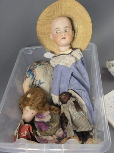 9: An Armand Marseille bisque doll and another