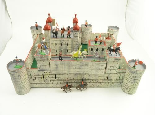 17: A Tri-ang sectional painted wood Tower of London,