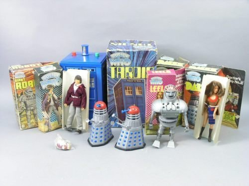 19: Denys Fisher Toys, Dr Who series, six toys, all box