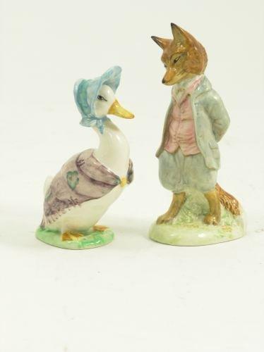 660: A Beswick Foxy Whiskered Gentleman & Jemima Puddle