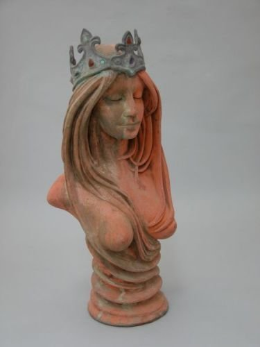13E: A terracotta bust of a mythological young woman