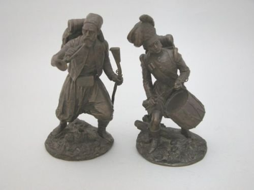 16E: Thenard (19th century) - a pair of bronze military