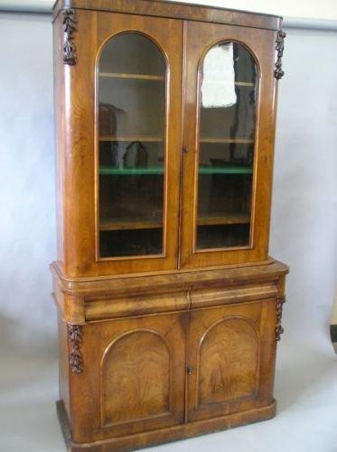 626E: A Victorian walnut bookcase