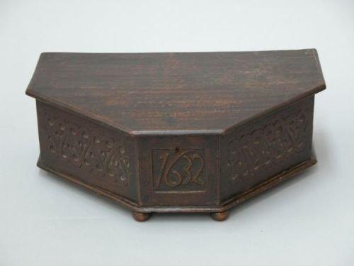 630E: An oak box of irregular form