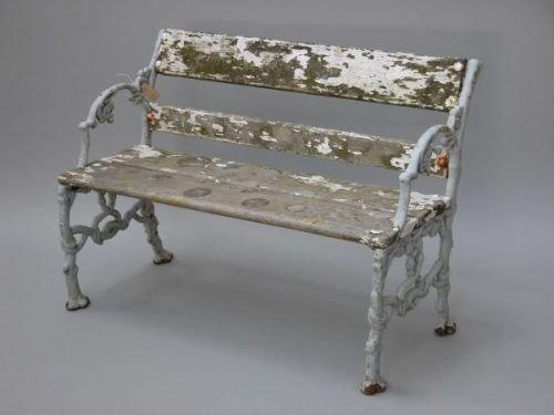 632E: A Victorian Coalbrookdale style cast iron two-sea