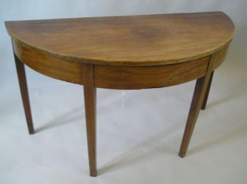 641E: A George III mahogany demi-lune side table