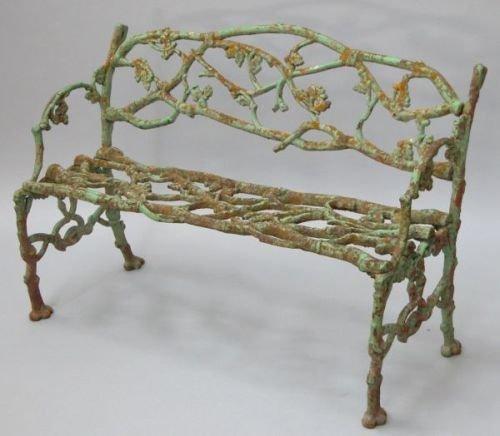 644E: A Victorian cast iron two-seat garden bench