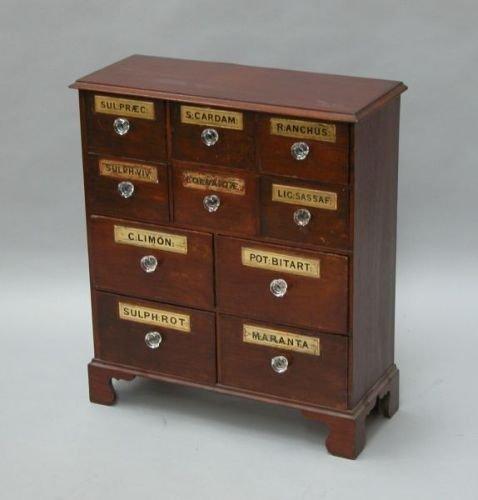646E: A mahogany apothecary's chest