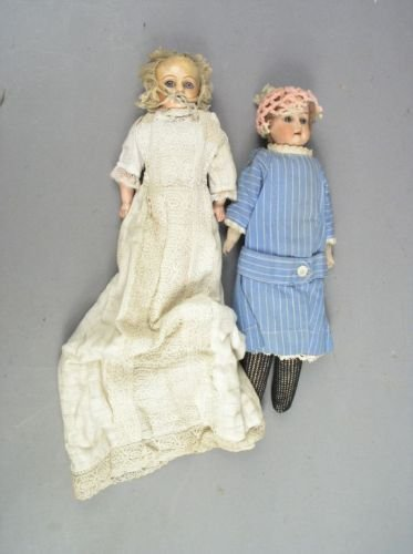 6: An Armand Marseille bisque doll and one other doll