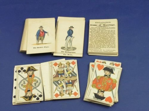 15: German part set of hand coloured playing cards & a