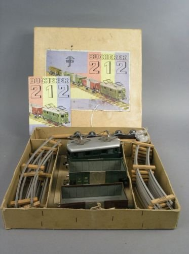 21: A Bucherer 'Buco' gauge O tinplate train set,