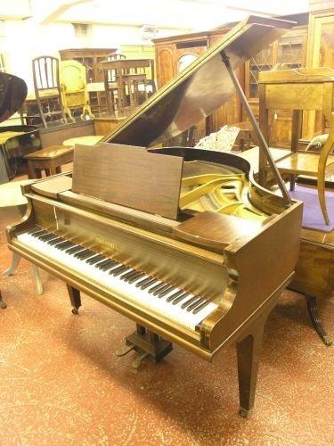 886: A Chappell mahogany baby grand piano, 4ft 6ins