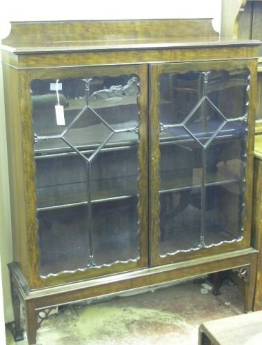 889: An early 20th century mahogany display cabinet, 3f