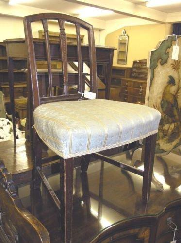 896: A pair of George III Hepplewhite design mahogany d