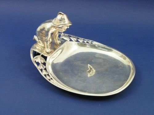 1297: A WMF silver plated dish, 8.5ins