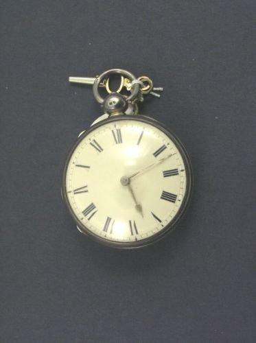 1522: A George III silver Duplex pocket watch,