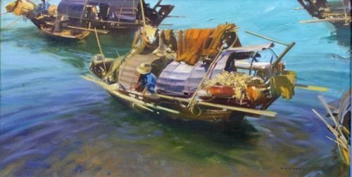 2040: Frank Wootton (1911-1978) 'Fishing Boats, Hong Ko