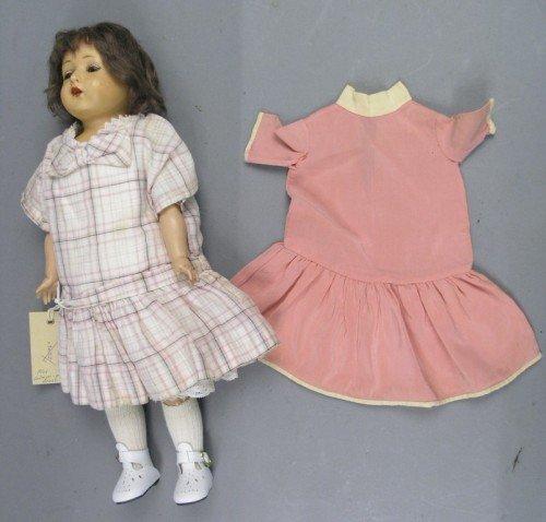 3: A Rheinische Gummi bakelite doll, 15.75in.