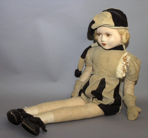 9: A large Chad Valley felt doll, 39ins