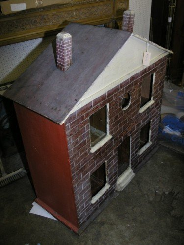 13: A large doll's house, 42in. high; 39in. wide