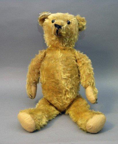 20: An English Teddy bear, 25in.