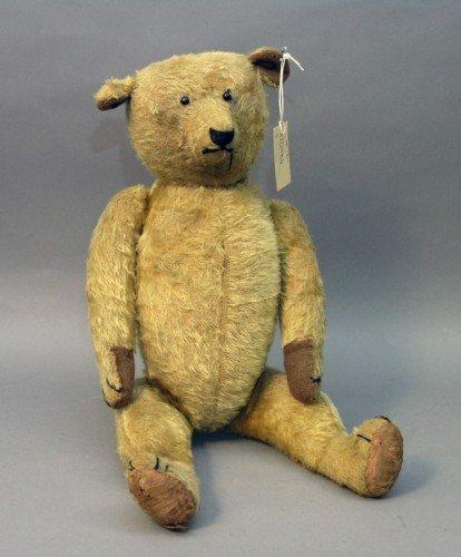 23: An early English Teddy bear, 25in.