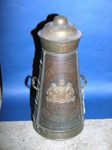 77: An Alway & Sons brass milk pail, 20ins