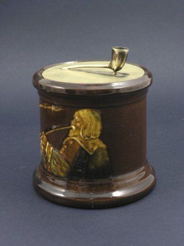 594: A Royal Doulton Kingsware tobacco jar, 5.5in.