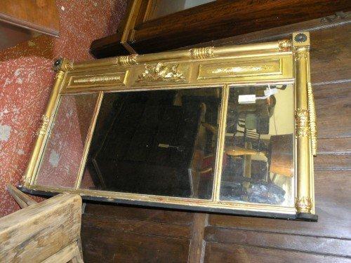 1078: A Regency design giltwood overmantel, 4ft 6ins